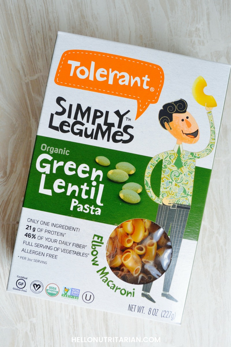 best healthy pasta options Tolerant Simply Legumes Organic Green lentil pasta review