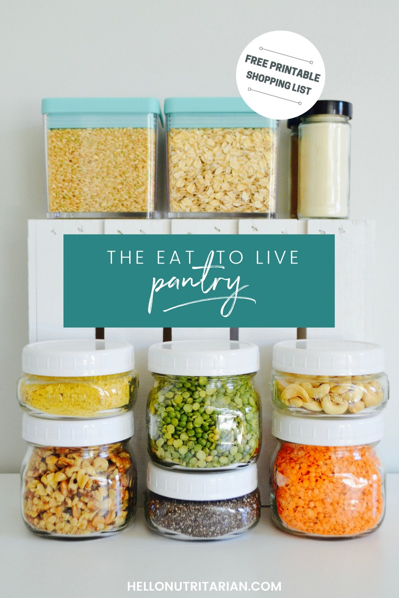 The Eat to Live Pantry Dr Fuhrman nutritarian diet 6 week program Dr Greger plant based kitchen