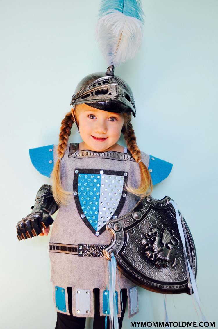 girls halloween costume ideas how to train your dragon astrid diy felt knight costume  sc 1 st  Hello Nutritarian & Felt Knight Costume | Hello Nutritarian