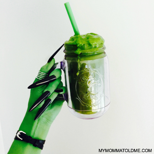 Green smoothie wicked witch halloween costume