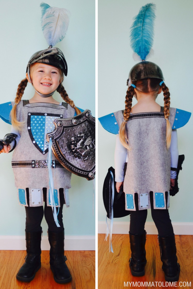 felt knight cotume tutorial diy halloween costume cool girls halloween costume ideas