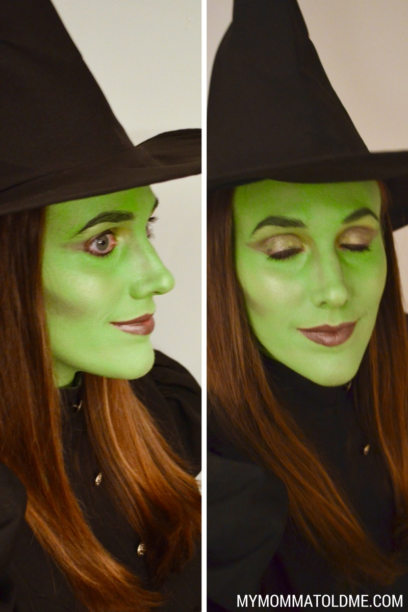 wicked witch makeup tutorial elphaba makeup halloween costume idea wicked witch of the west