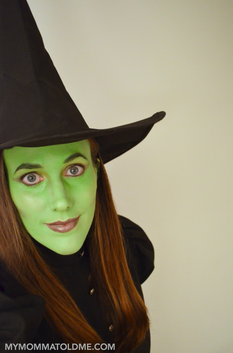 wicked witch of the west makeup and costume tutorial elphaba wicked halloween costume ideas
