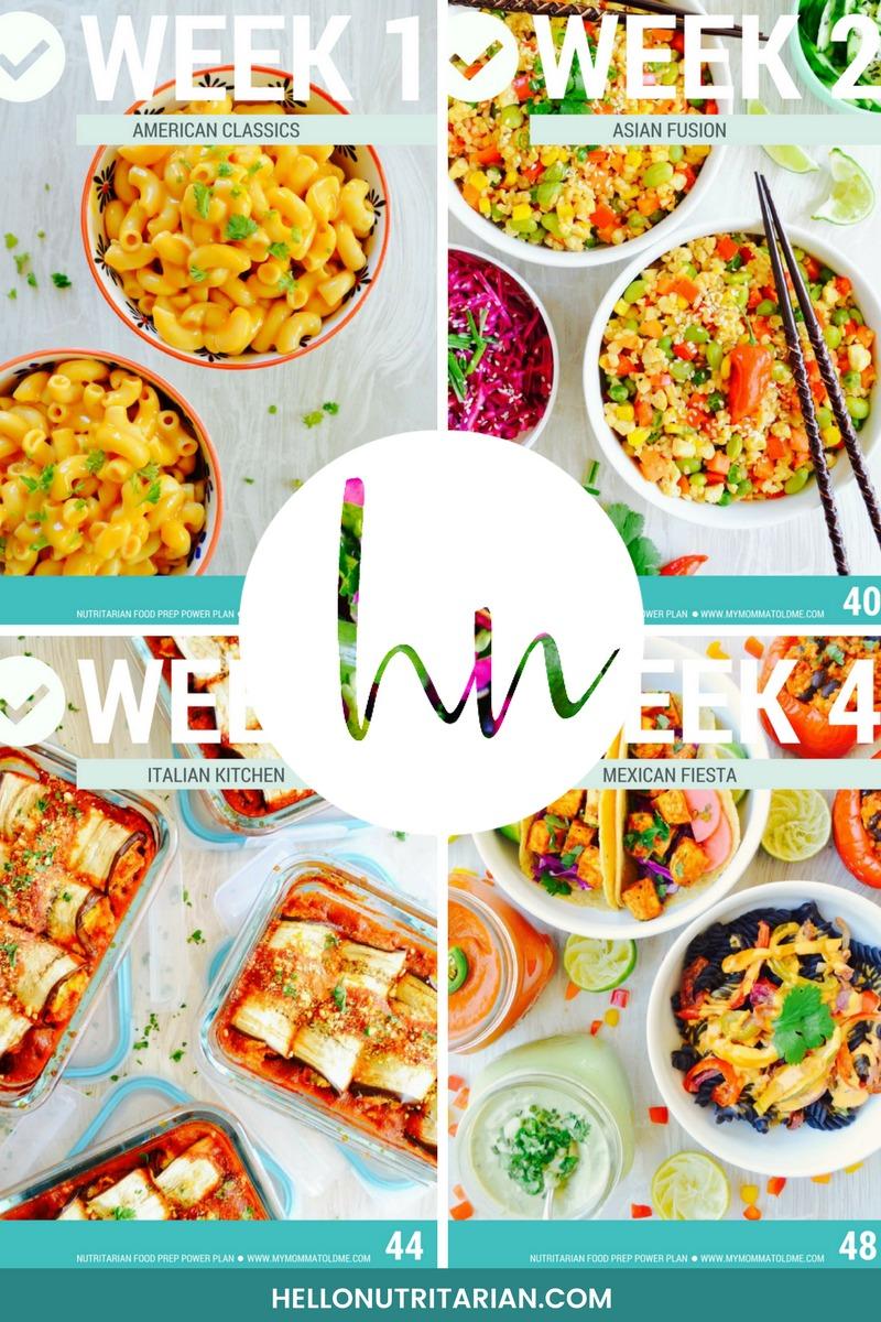 nutritarian food prep power plan ebook four meal prep weeks dr fuhrman eat to live
