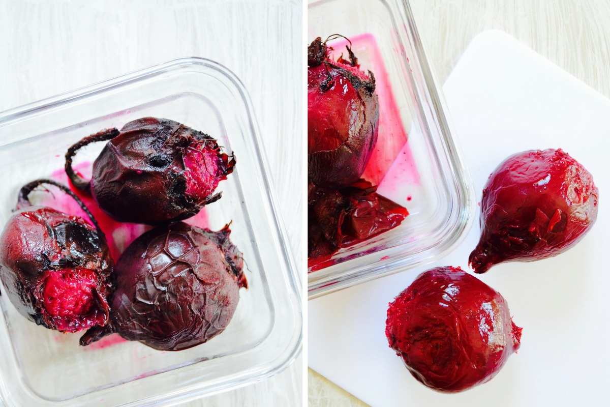 How to roast beets How to remove beet skin How to make beet hummus No oil beet hummus recipe Dr Fuhrman diet recipes