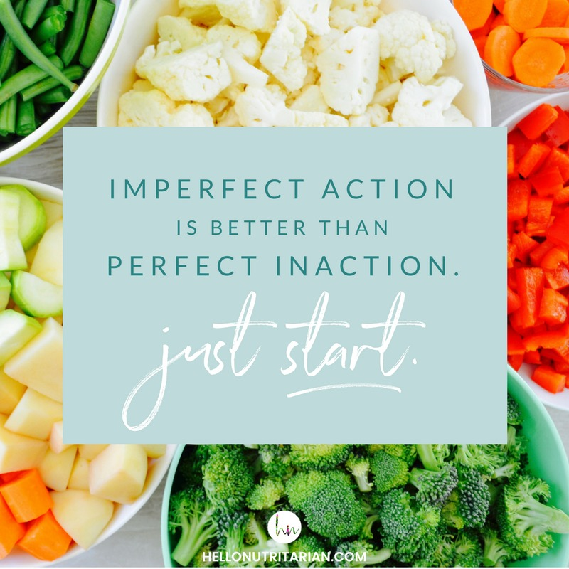 imperfect action is better than perfect inaction quote whole food plant based diet What the health Dr Fuhrman eat to live
