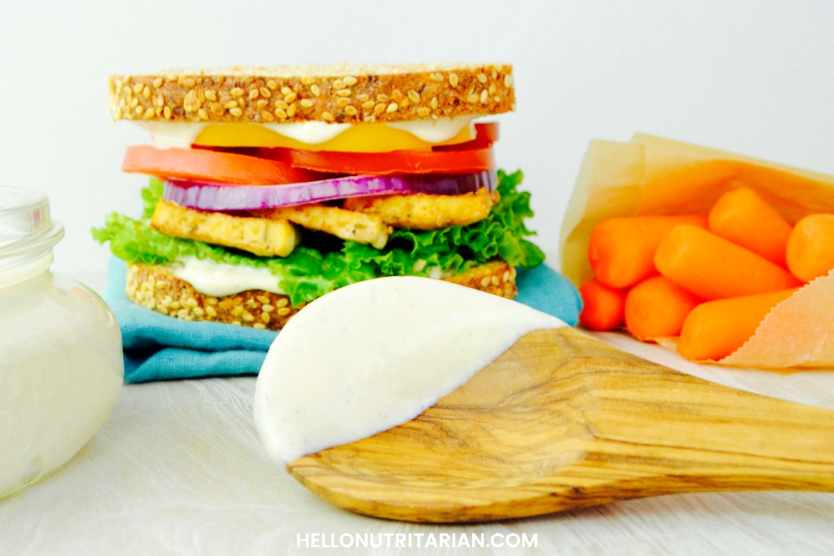 how to create sandwich with mayonnaise and miso