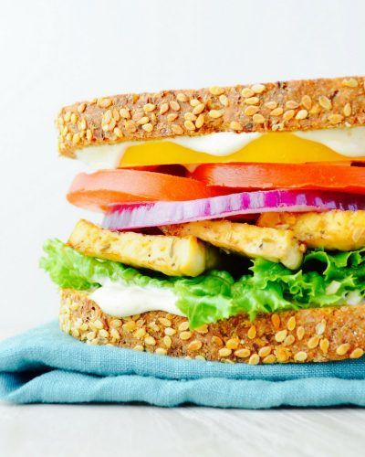 Nutritarian Eat to Live Sadwich recipe what bread to use on the nutritarian diet tofu cashew mayo recipe baked tofu sandwich recipe whole foods plant based diet