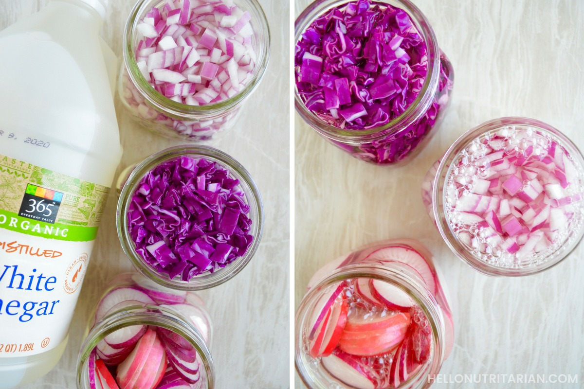 How-to-make-pickled-veggies-with-only-viegar-and-your-refrigerator-Quick-Pickled-Red-Cabbage-Red-Onion-Radish-Super-Easy-Pickled-Vegetables-Dr-Fuhrman-Eat-to-Live-6-week-plan