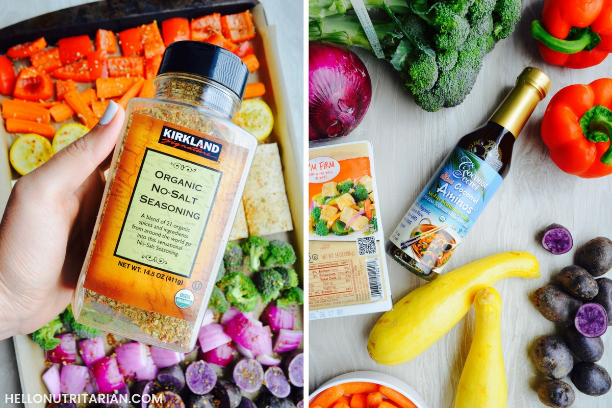 Oil Free Cooking Condiments Techniques Dr Fuhrman Eat to live 6 week plan nutritarian diet Dr Greger How Not to Die What the Health Vegan Sheet Pan meal