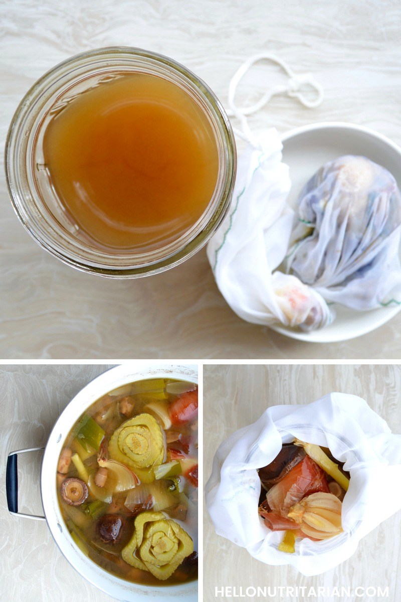 Shiitake Ginger Broth recipe no oil vegan plant absed pho noodle broth recipe how to make homemade broth from veggie scraps