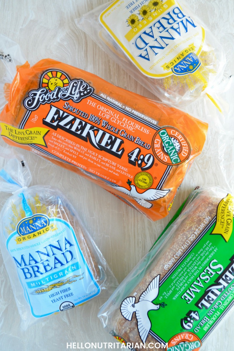 Best Nutritarian bread Options Ezekiel Manna bread Brands what bread to use following Dr Fuhrman Eat to Live Aggressive plan