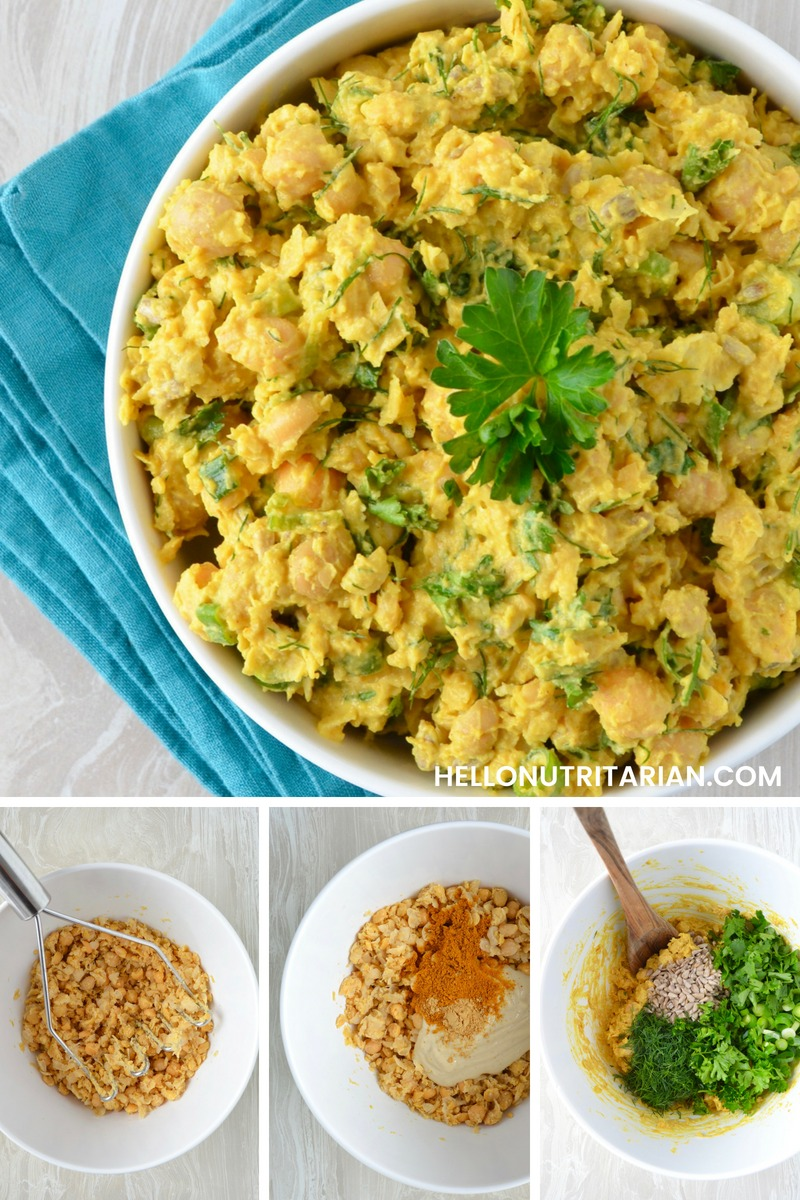 Curried Chickpea Salad Recipe SOS free vegan