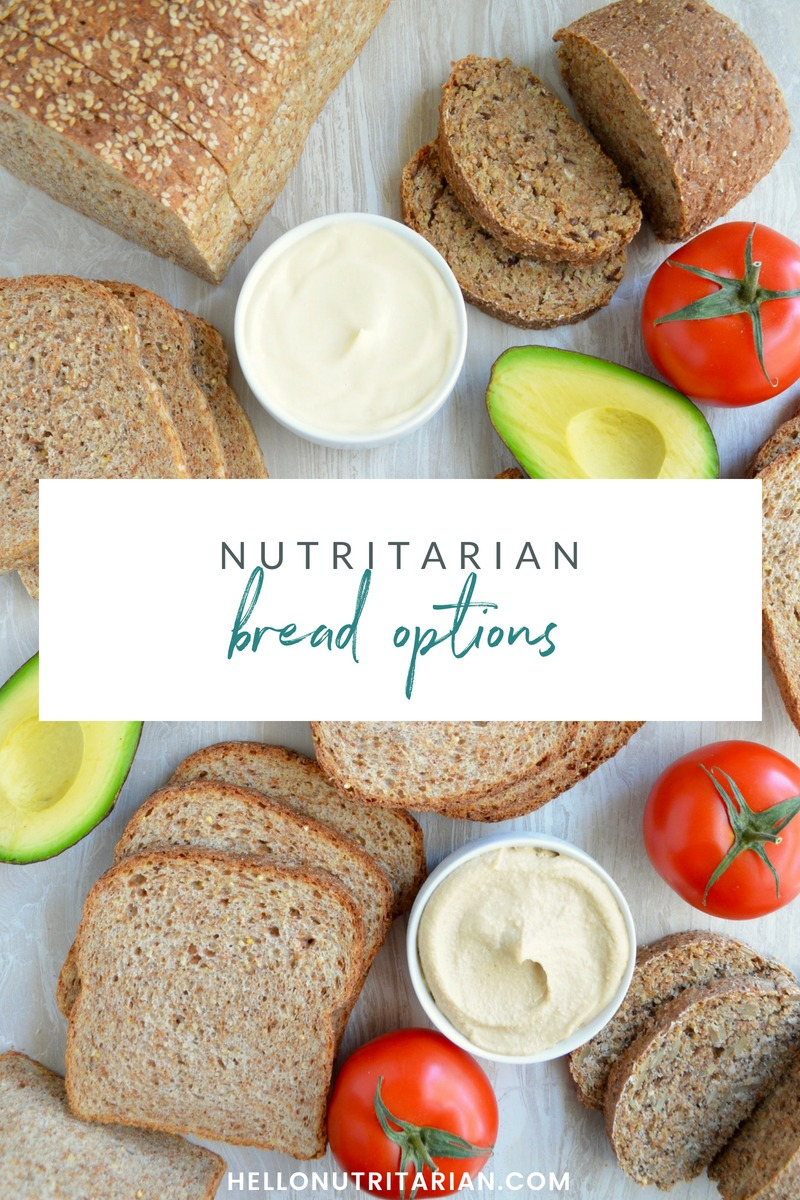 Nutritarian Bread Options bread on Dr Fuhrman Eat to Live Diet Vegan SOS free bread brands Dr Greger Daily Dozen How Not to Die What the Health
