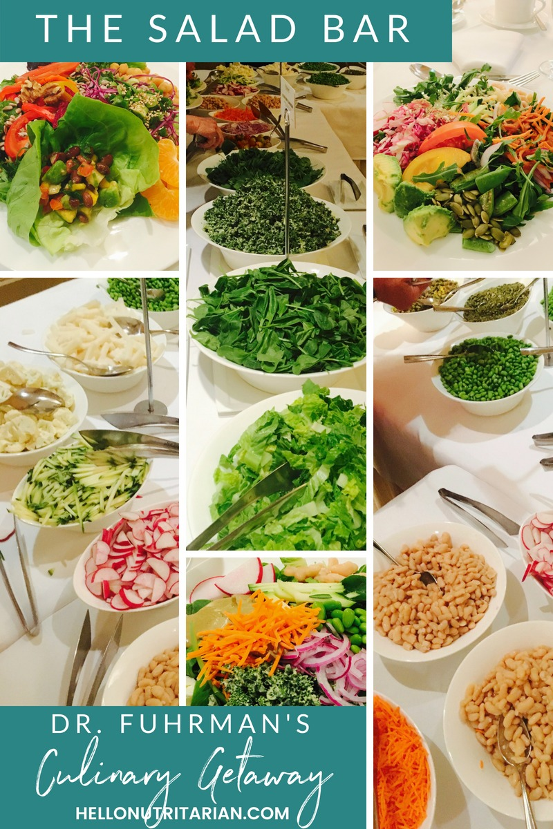 Dr. Fuhrman Culinary Getaway What to expect at a Dr Fuhrman Nutritarian Retreat the salad bar 6 week eat to live plan