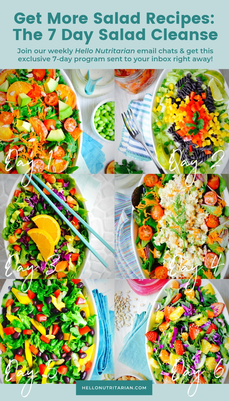 The 7 Day Salad Cleanse Free Start Up Program by Hello Nutritarian