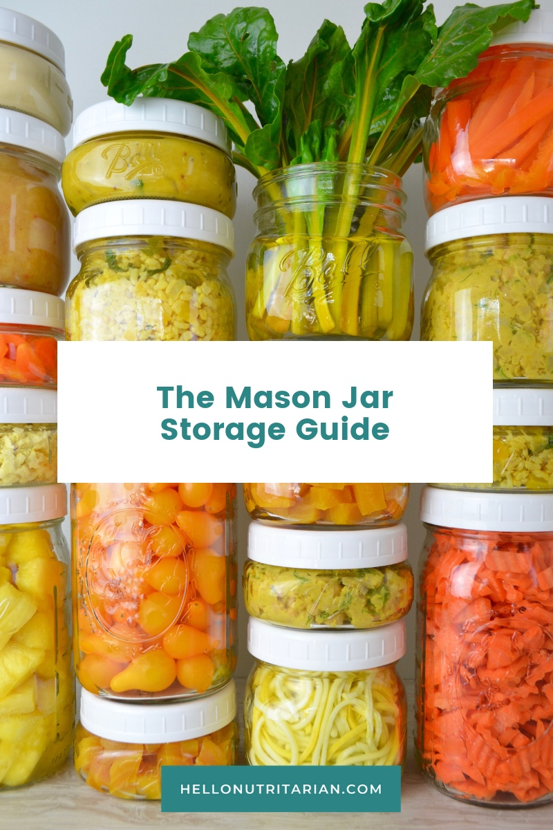 The Mason Jar Food Storage Guide by Hello Nutritarian Best Glass Food Storage Containers for Fridge refrigerator storage organization The Home Edit Marie Kondo