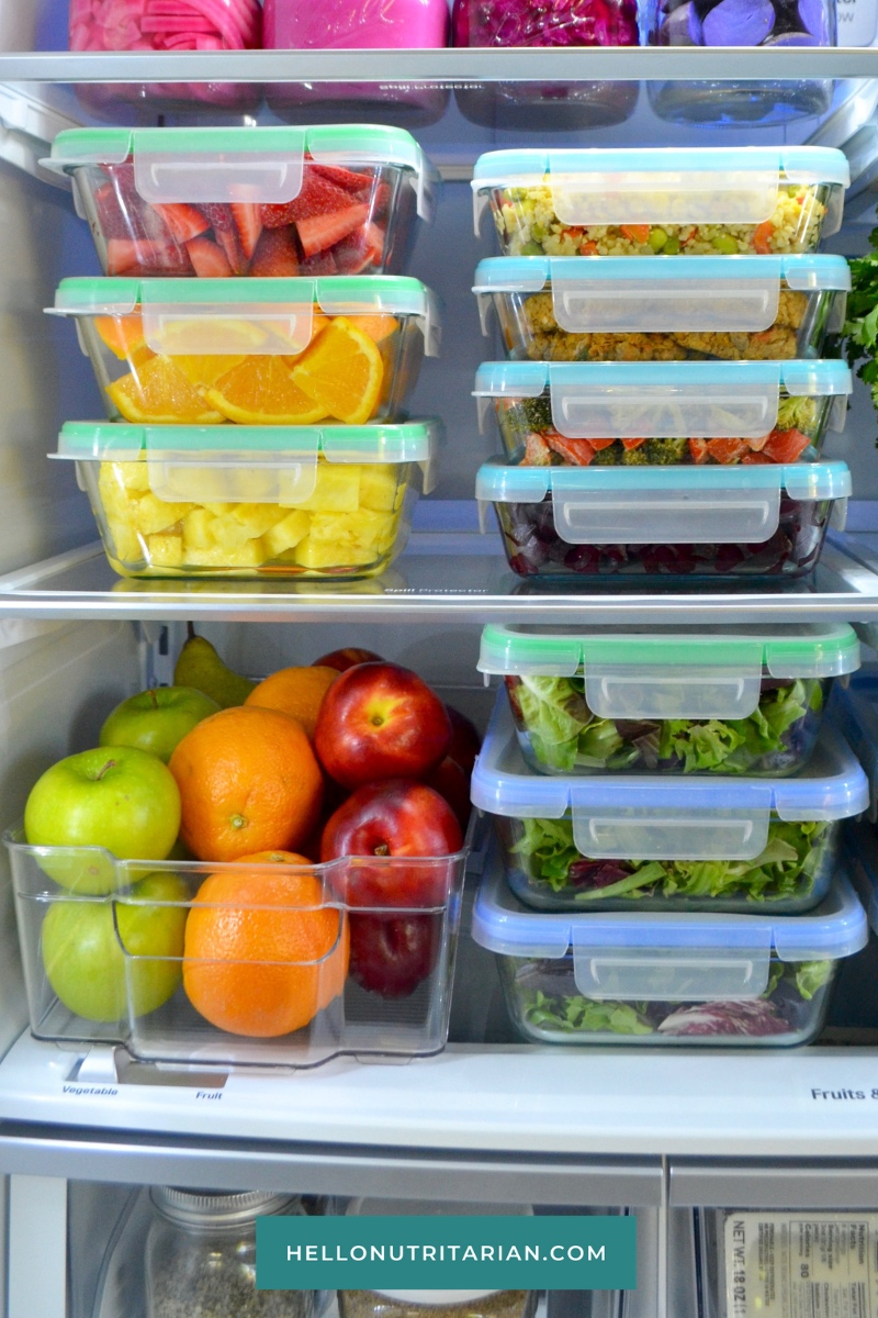 Refrigerator Organization Glass Storage Containers Plastic Bins by Hello Nutriarian Home Edit Marie Kondo Plant Based Lifestyle